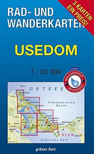 Rad- und Wanderkarten-Set: Usedom