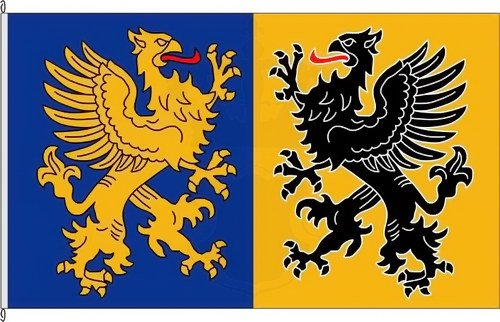 Bannerflagge Landkreis Nordvorpommern historisch - 150 x 500cm - Flagge und Banner