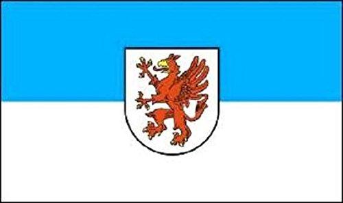 U24 Fahne Flagge Vorpommern Bootsflagge Premiumqualität 20 x 30 cm