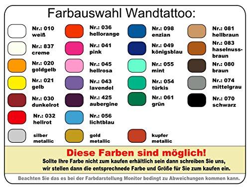 plot4u Darß Wandtattoo in 7 Größen und 19 Farben (70x42cm goldmetalleffekt) - 4